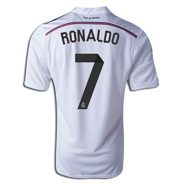 brand new b6f14 9b1e2 adidas Cristiano Ronaldo Real Madrid Home Jersey 14/15 ...