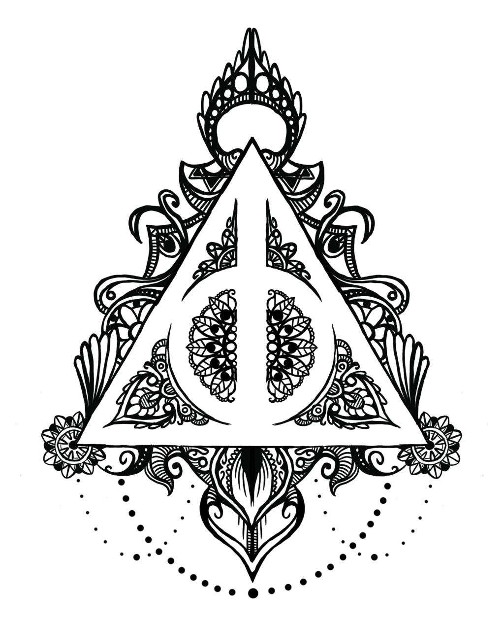 Deathly Hallows Mandala by midlifebeef51 on DeviantArt
