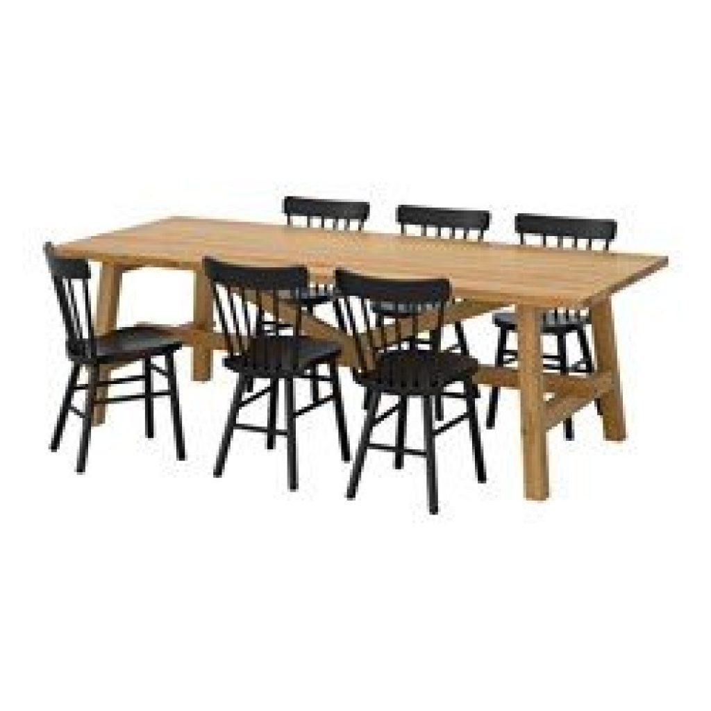 MÖCKELBY / NORRARYD Table and 6 chairs oak, black