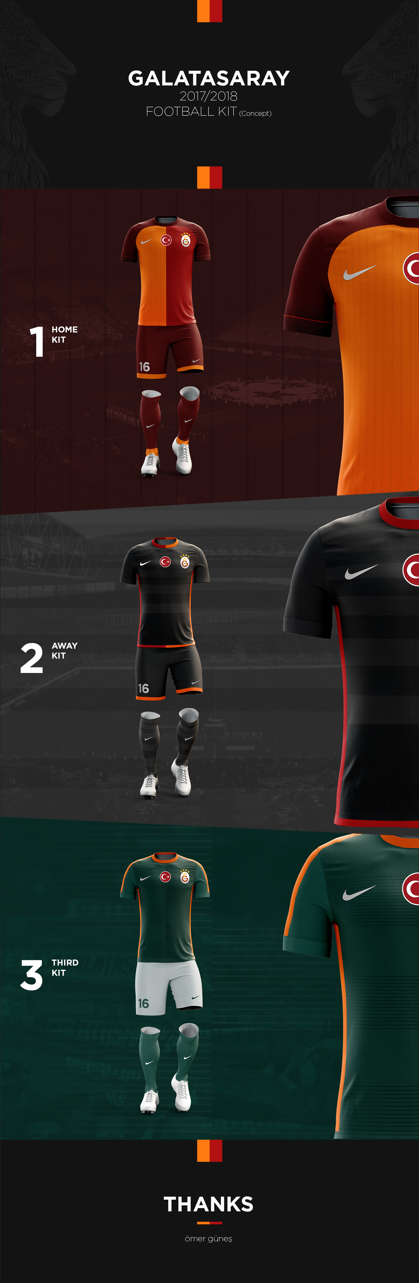 Galatasaray 2017-2018 Football Kit (Concept Design) on Behance ... b00cae2d4e39a