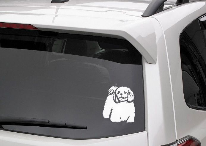 Shih Tzu  Cavachon  Maltese Dog Vinyl Decal For Car Windows Car - How to make your own vinyl decals for cars