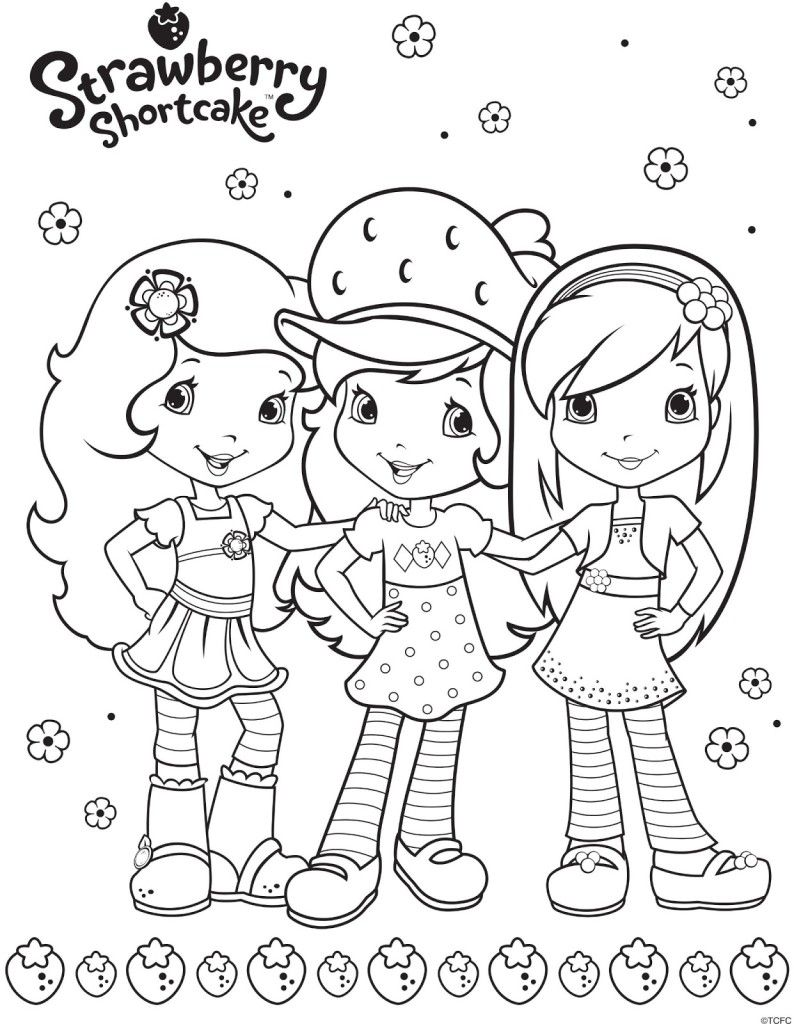 coloring pages strawberry shortcake and friends coloring pages