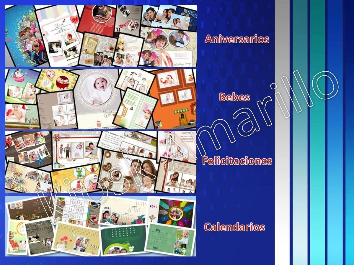 Diseño De Calendarios Collage Y Marcos Para Fotos Bsf 5000 En