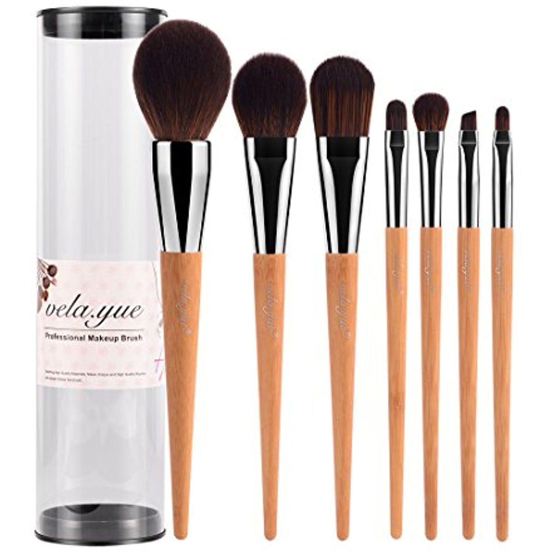 vela.yue Pro Makeup Brushes Set 7pcs Travel Face Cheek