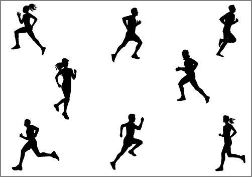 Marathon Running Silhouette Vector Graphics Silhouette Clip Art Silhouette Vector Person Silhouette