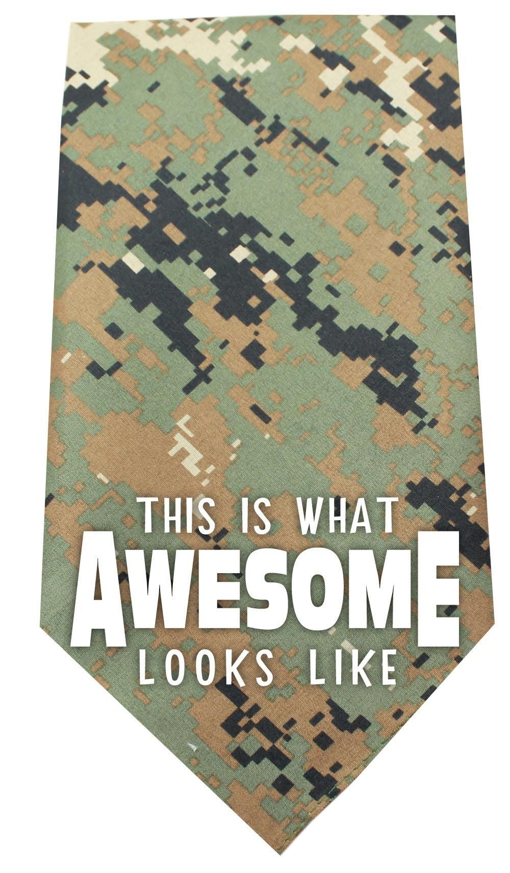This is what Awesome Looks Like Screen Print Bandana Digital Camo