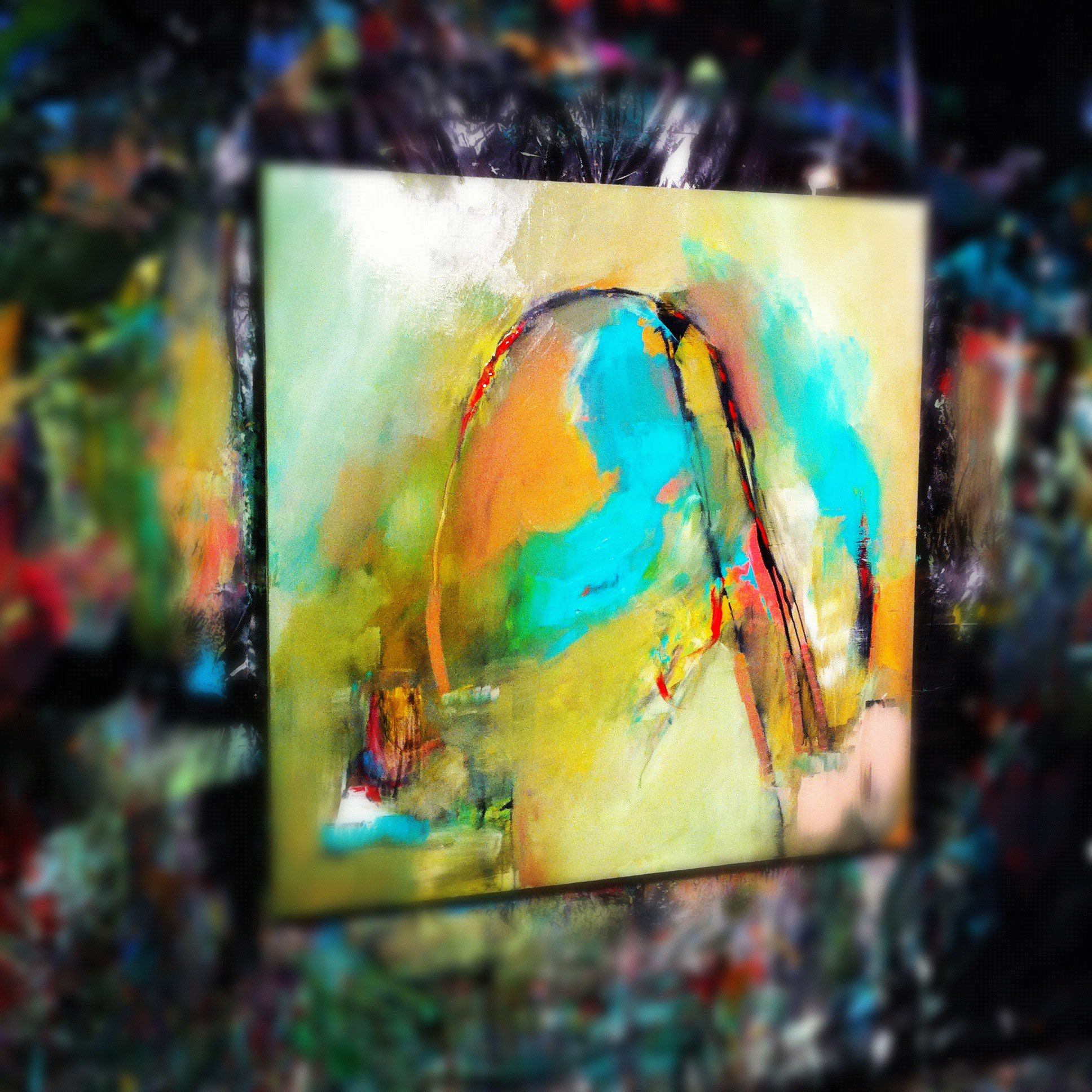 In the studio #BrittanyLeeHoward #art #abstractpainting