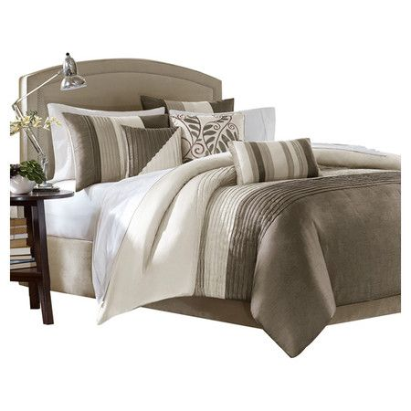 Found it at Wayfair - Amherst 7 Piece Comforter Set in Natural & Ivory