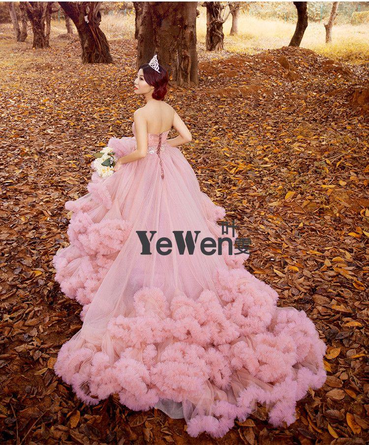 Aliexpress.com: Comprar Princesa de lujo del tren Largo Nube vestido ...