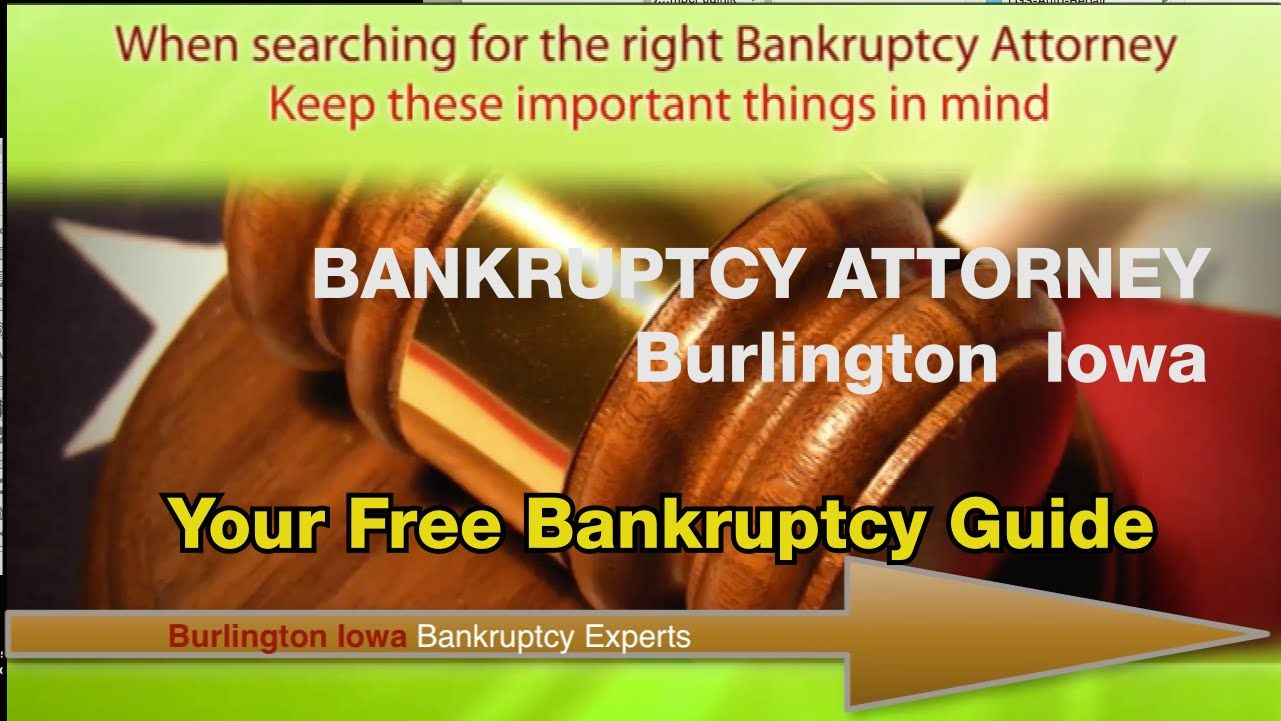 Visit http://instantlocalservice.com/bankruptcyattorneyurlingtoniowa/ to get your Free Guide - Must Read This before you hire any Bankruptcy Lawyer. Call Us ...