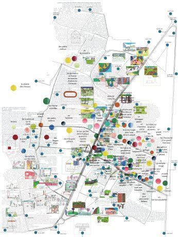 cartographie sensible « Ici comme ailleurs, observatoire d'urbanités ordinaires » - Laval, quartier des Pommeraies - Bénédicte MALLIER