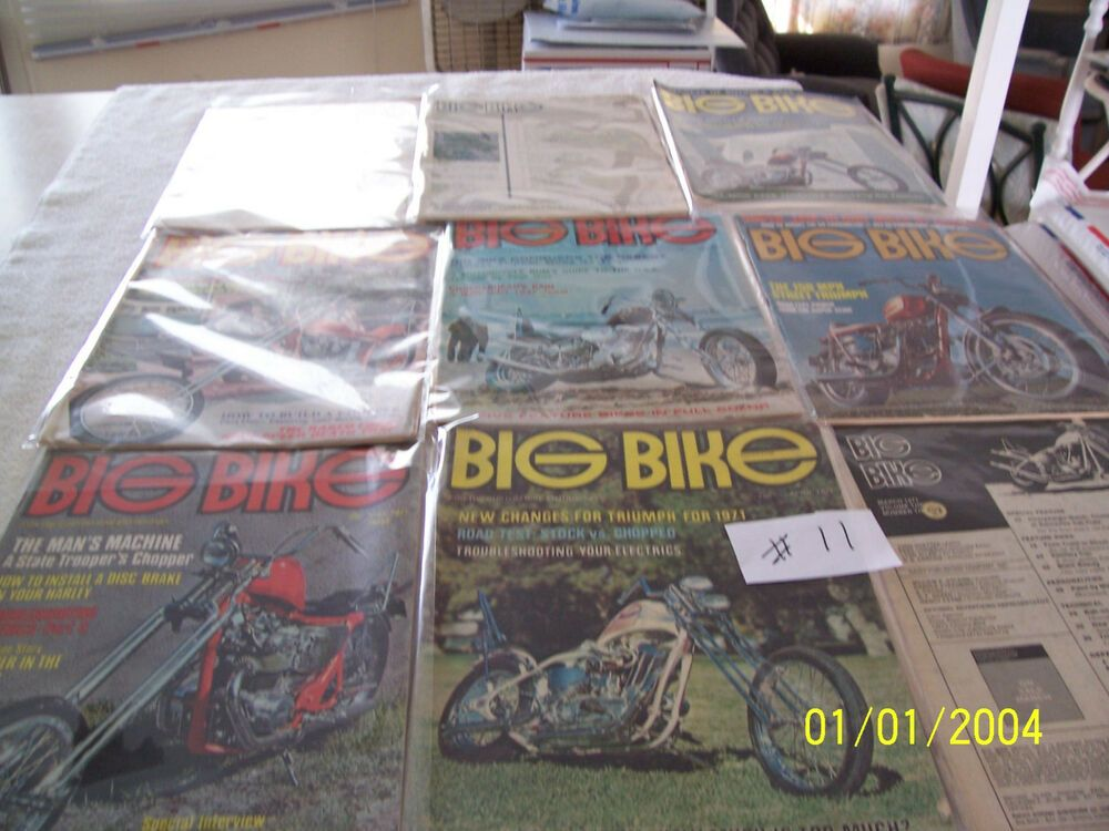 Details About Vintage 1971 Big Bike Magazines 10 Issues Rare
