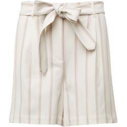 Photo of Tom Tailor Damen Toni Garrn: Leinenshorts mit Gürtel, weiß, gestreift, Gr.38 Tom TailorTom Tailor