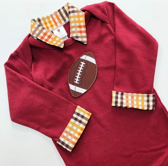 Baby Boy Football Outfit - Boys Thanksgiving Outfit - Football Shirt - Football Outfit for Baby Boy #thanksgivingoutfit