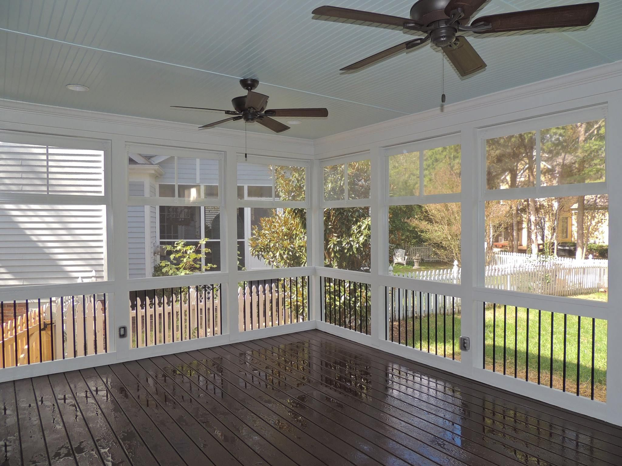 Check out this stunning enclosed deck built by exterior for Enclosed front porch pictures
