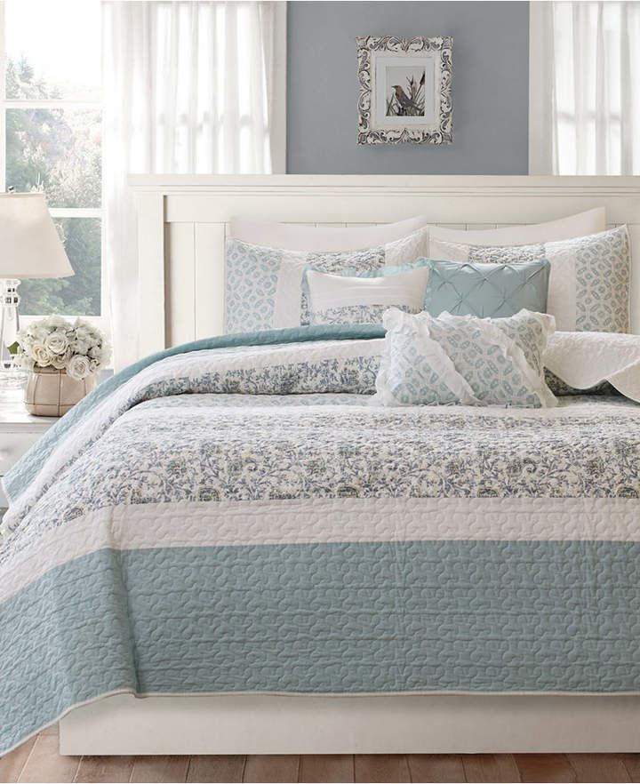Madison Home Usa Dawn 6 Pc Quilted King California King Coverlet