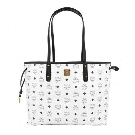 MCM Tasche – Project Visetos Reversible Shopper Medium White