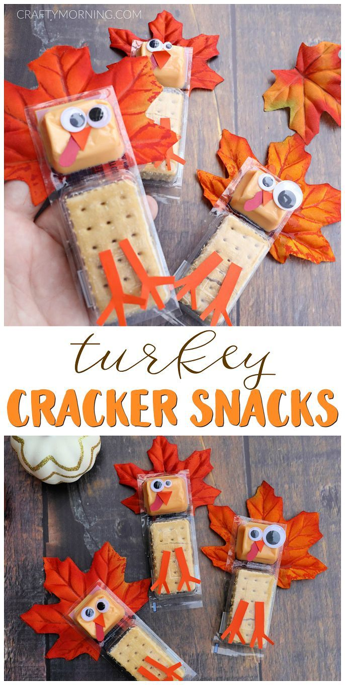 Turkey Cracker Snacks for Kids