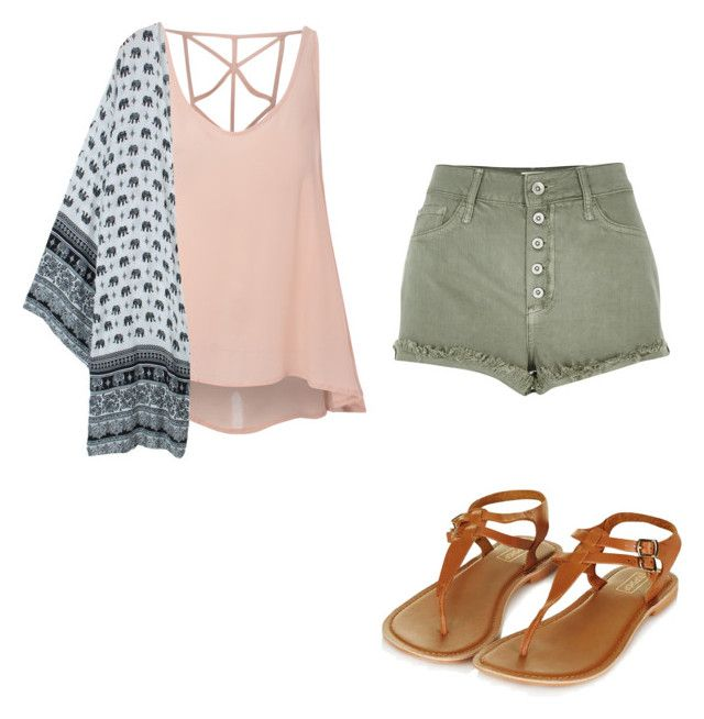 """Casual"" by wildweasley on Polyvore featuring moda, Glamorous, River Island y Topshop"