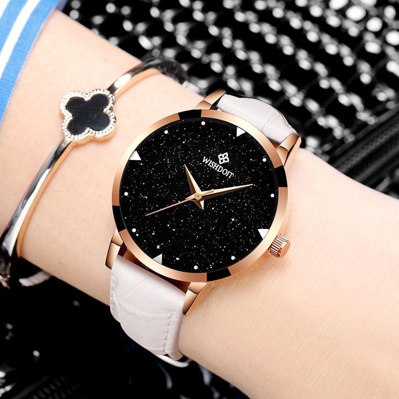 7c7071f53 WISHODIT 2018 women watches Fashion dress ladies Watch women Leather Quartz  Wrist Watch Relogio feminino girl Clock Montre Femme Price  19.98   FREE ...
