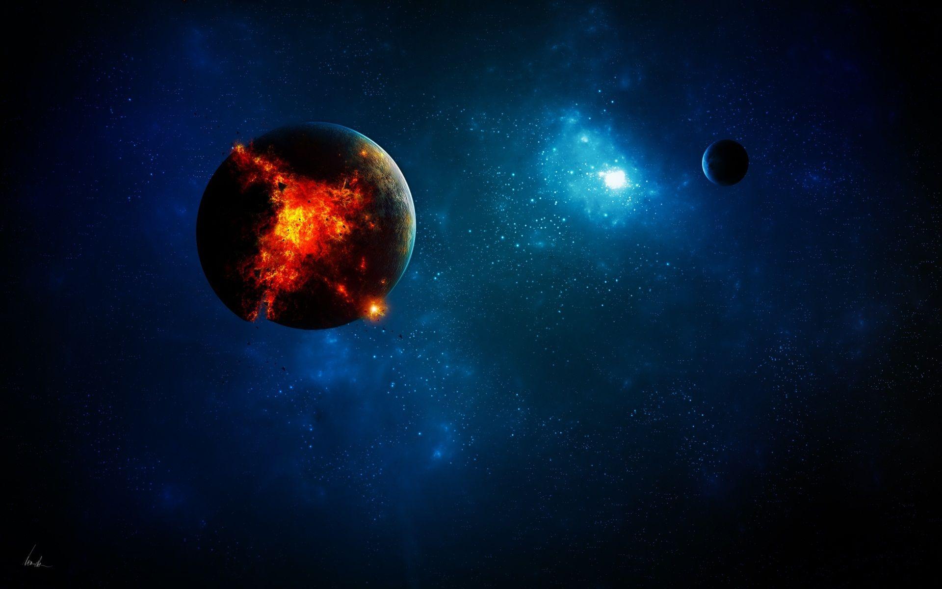 Light Planets Apocalypse Space Earth Destruction