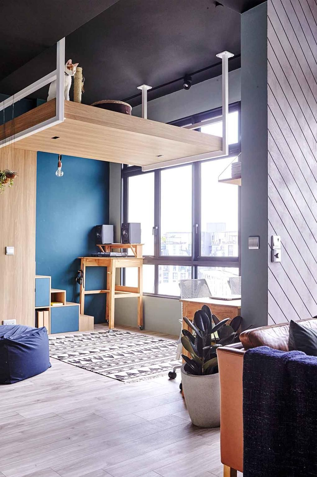 House Tour A Minimalist Nordic Style Two Bedroom Condo Apartment With Green And Blue Shades