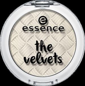 essence the velvets eyeshadow 01 fluffy clouds - essence cosmetics