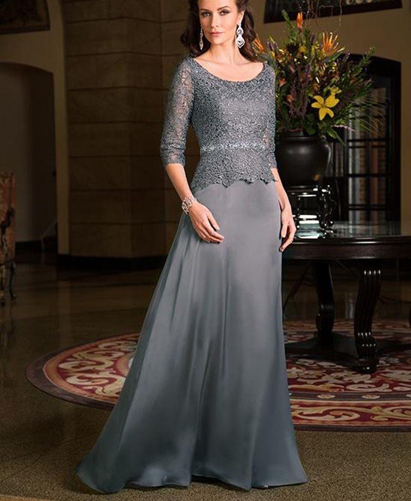 Vestido para boda gris