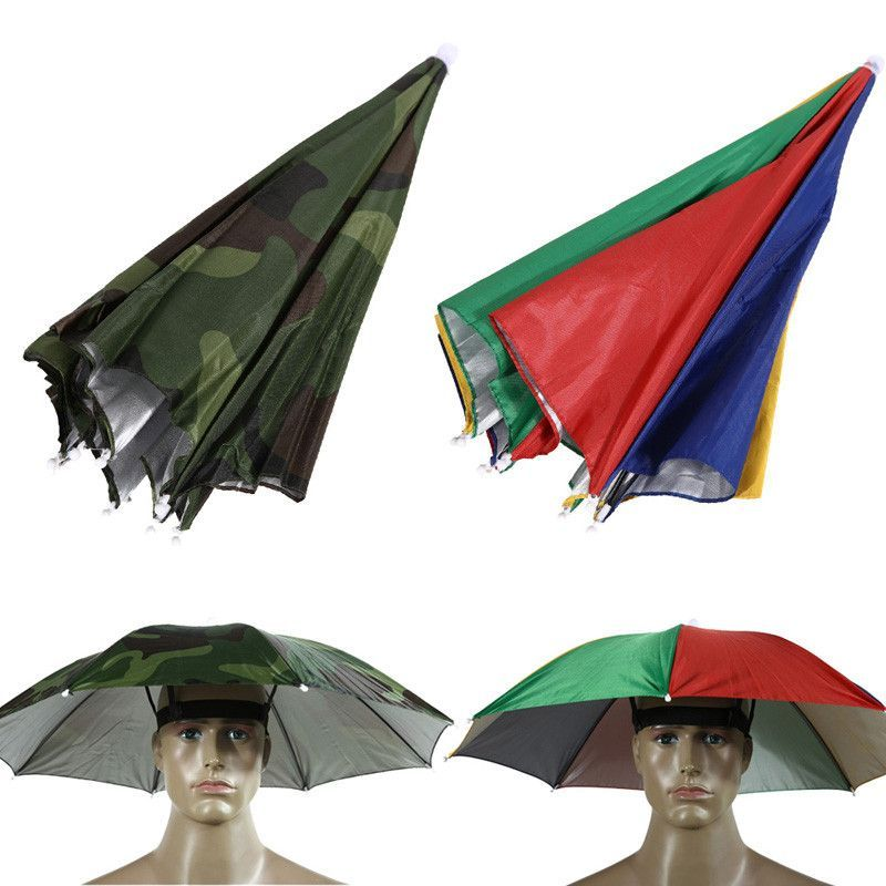 0124e36664c Umbrella Hat Cap Sun Shade Camping Fishing Hiking Festivals Outdoor Brolly  H1E1