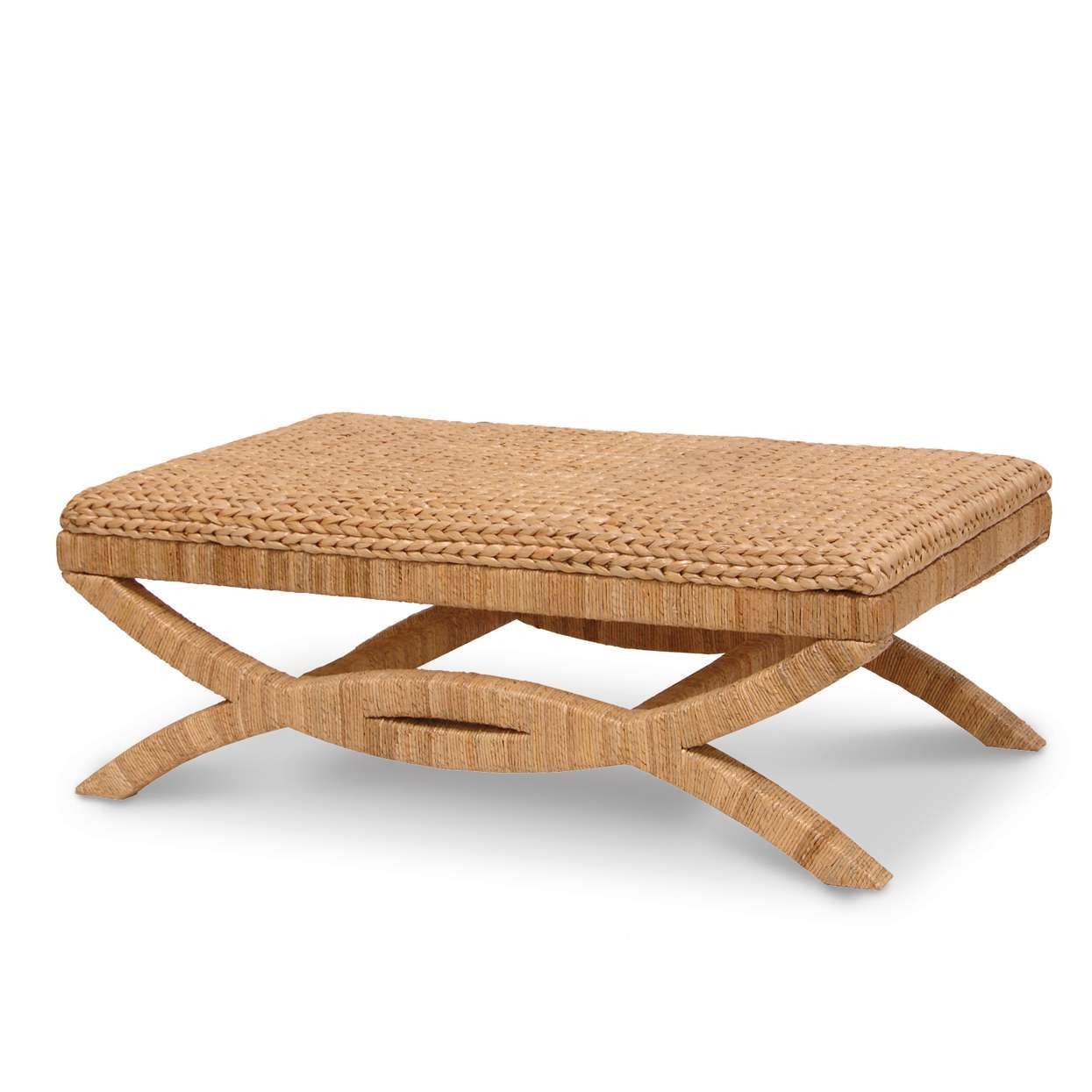 Furniture large square seagrass coffee table simple design as soleil havana coffee table woven seagrass top coffee table with seagrass rope legs geotapseo Gallery