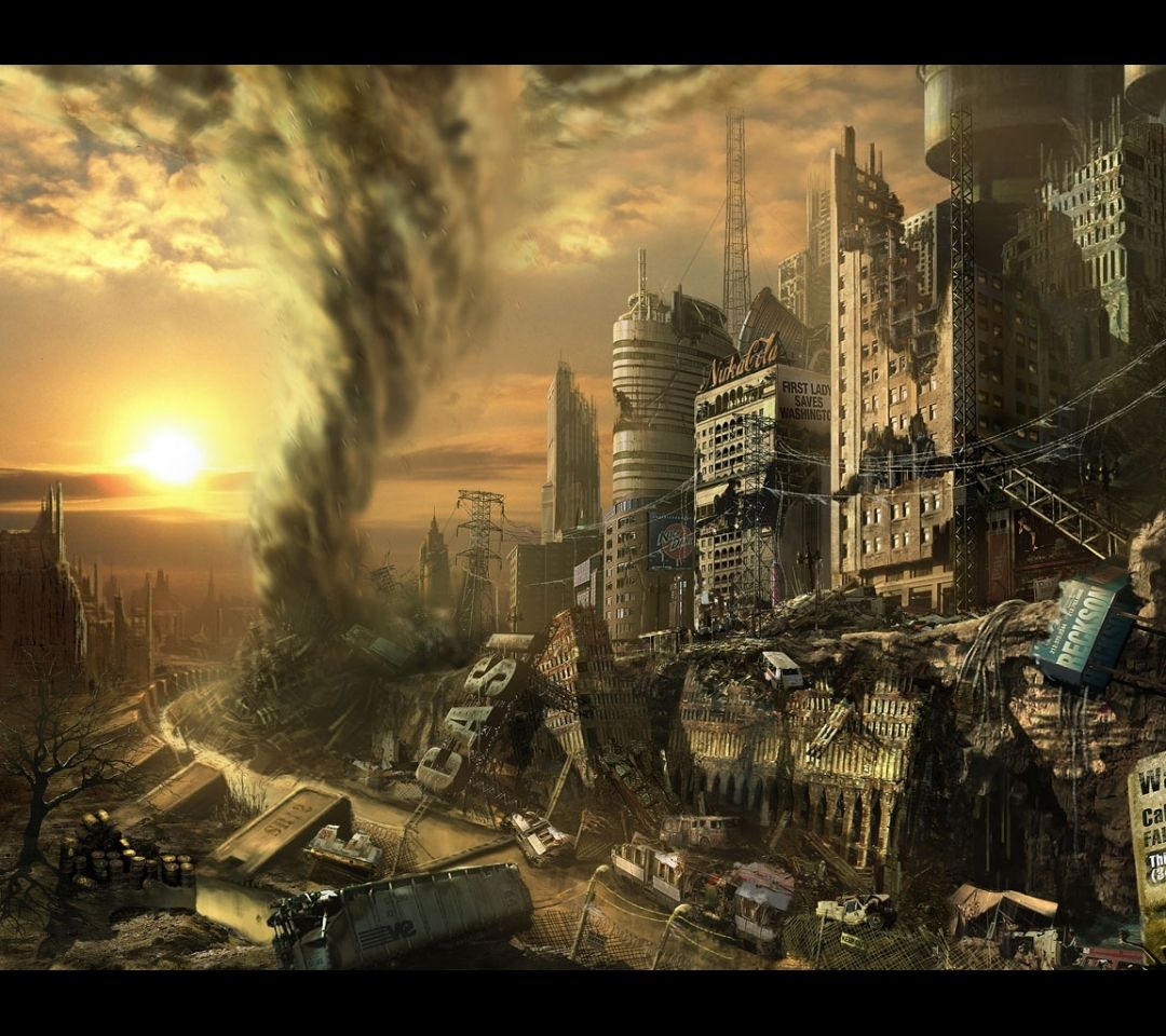 Fallout Postapocalyptic World Futuristic Abandoned City