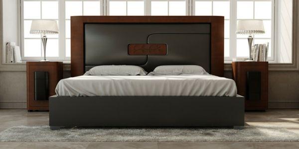 Kopfteil Für Bett In Schwarz