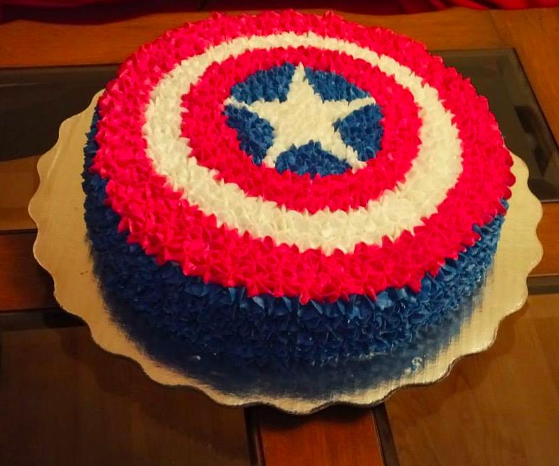 Escudo Capitán America de betún | Pasteles infantiles ...