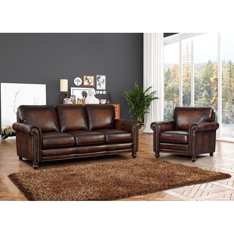 Pleasant Oliver Pierce Grayson Hand Rubbed Italian Leather Sofa Gmtry Best Dining Table And Chair Ideas Images Gmtryco