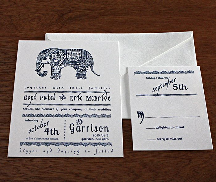 A modern Indian fusion letterpress invitation is here with a Baraat - fresh invitation letter for visa to usa parents