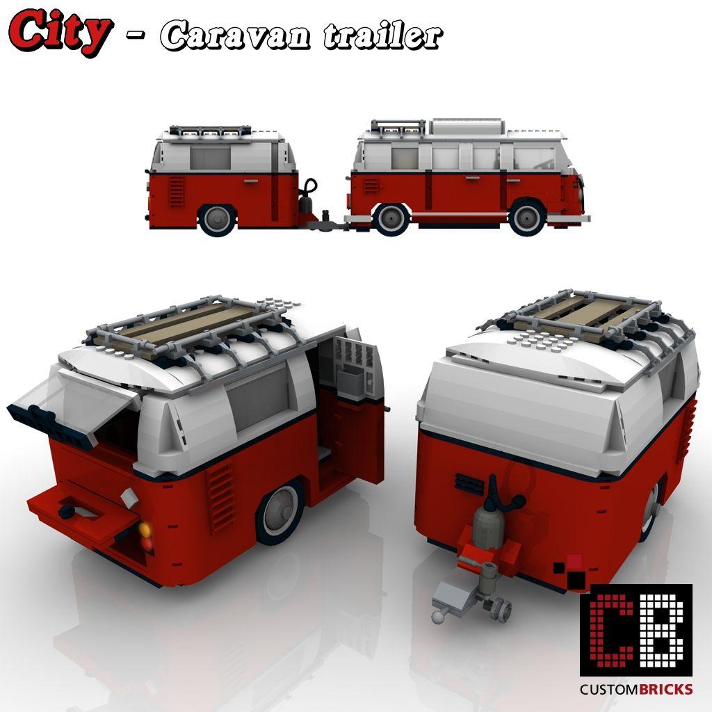 custom t1 caravan trailer lego pinterest lego. Black Bedroom Furniture Sets. Home Design Ideas