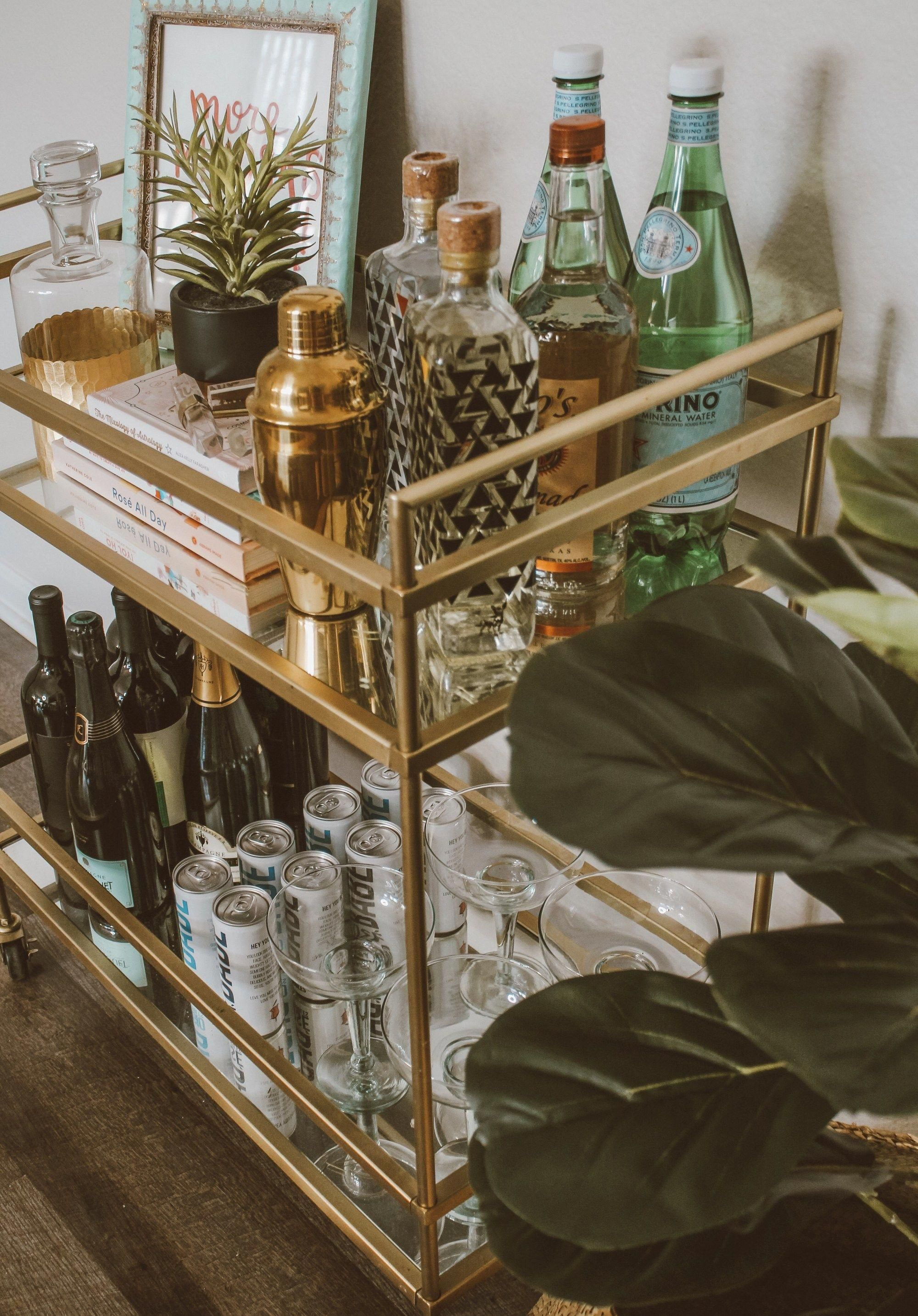 Figure Out More Information On Gold Bar Cart Decor Look Into Our Website In 2020 Bar Cart Decor Bar Cart Styling Gold Bar Cart