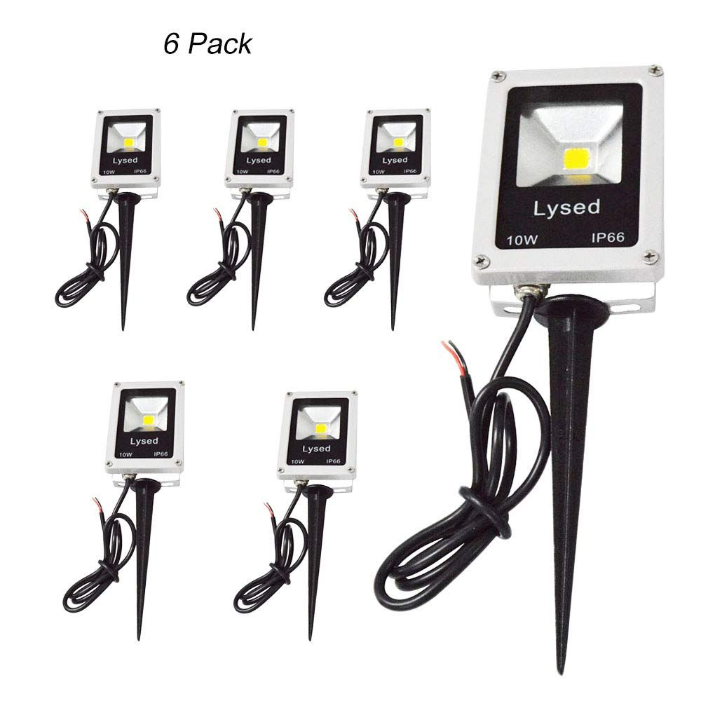 Lysed Led 10w Landscape Lights Floodlight Mini Outdoor Ip66 Waterproof Safety Light 3000k 12v Low Voltage 6 In 2020 Outdoor Garden Lighting Safety Lights Cool Lighting