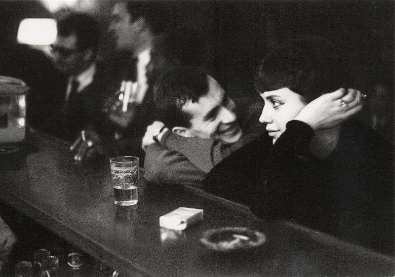 Пара в парижском баре, 1960. Фотограф Пол Альмаси (Paul Almasy)