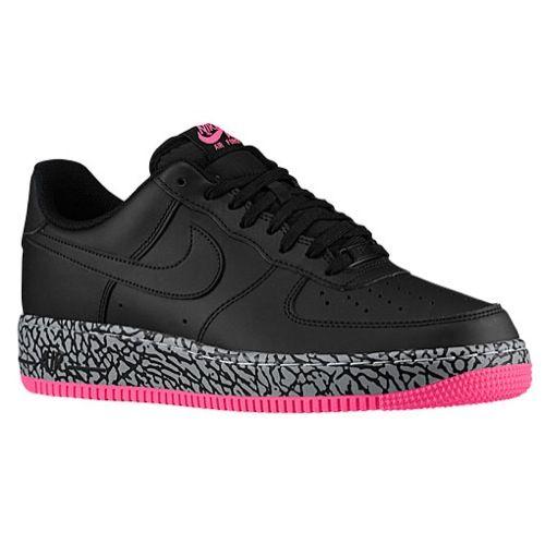 0b8098d59255 Nike Air Force 1 Low - Men s Nike Air Force 1 Low Black Hyper Pink Wolf  Grey Black