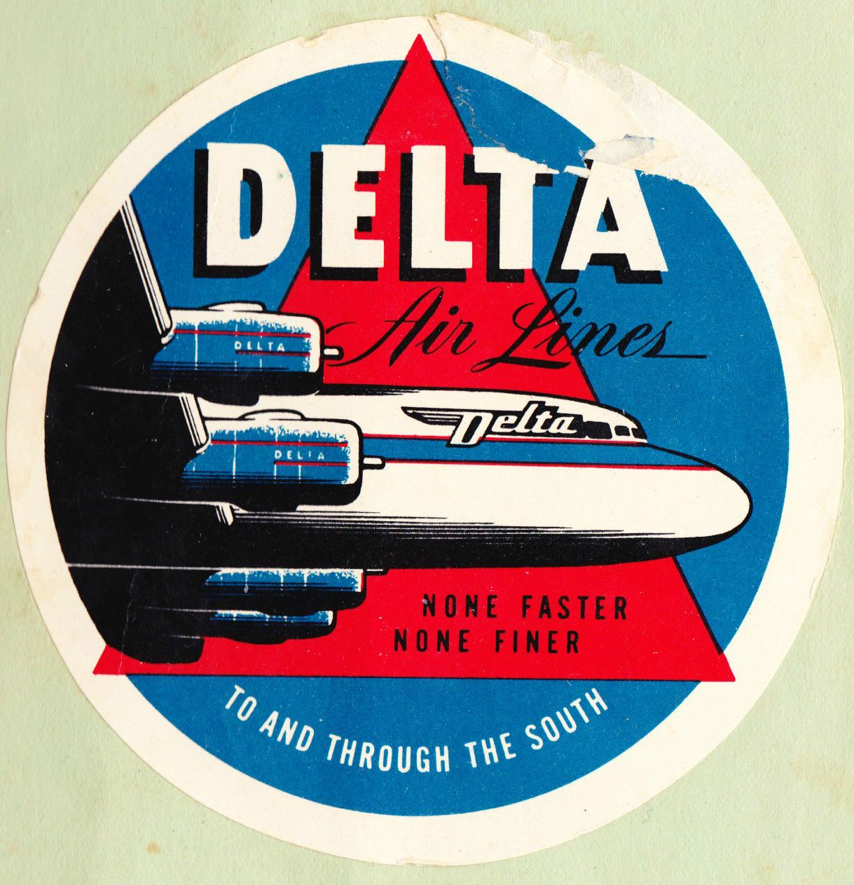 VINTAGE AVIATION AIRLINES cloth PATCH DELTA