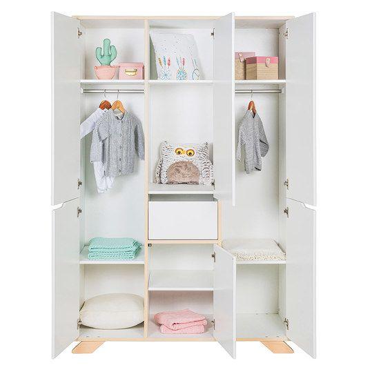 Schardt Kinderzimmer Tokio mit 6türigem Schrank, Bett