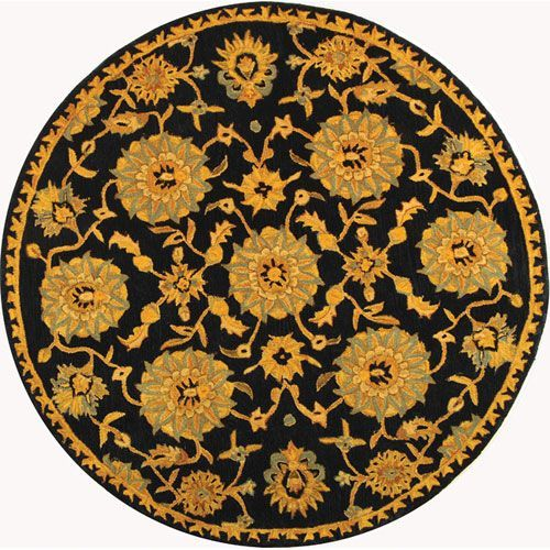Anatolia Navy Round: 8 Ft. In. x 8 Ft. In. Area Rug - (In Round)