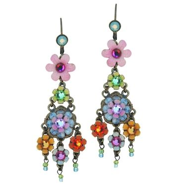 The Floral Earrings with Tassels by Israeli Jewelry Designer Orly