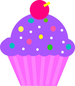 purple cupcake with sprinkles image clipart free clip art images rh pinterest co uk clipart of cupcakes clipart of cupcakes