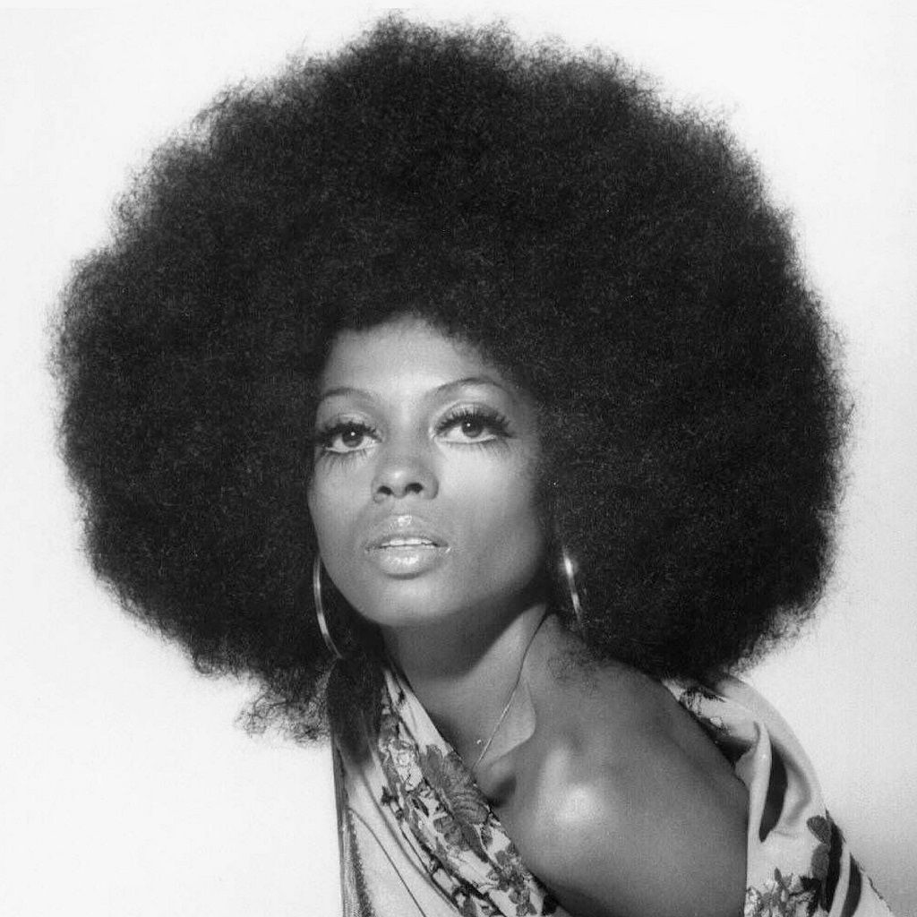 diana ross with 1960s afro hairstyle for black girls afro woman