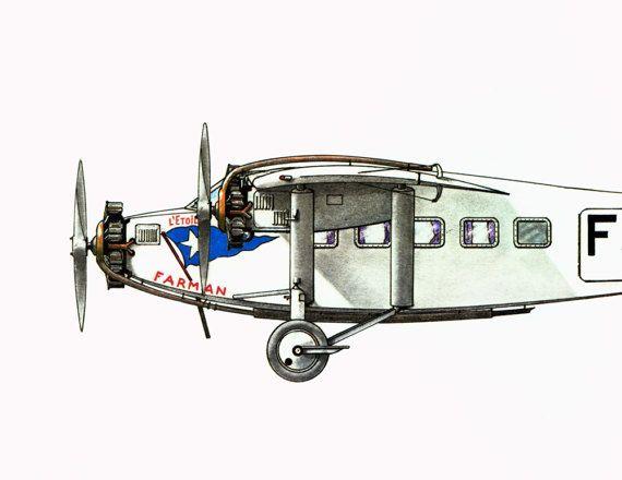 Aviation Wall Art farman f 301 silver star. paris amsterdam 1931. aviation wall art