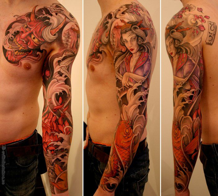 asian half sleeve tattoo designs tumblr m3b6ce752w1qdo0rno1 tat pinterest. Black Bedroom Furniture Sets. Home Design Ideas