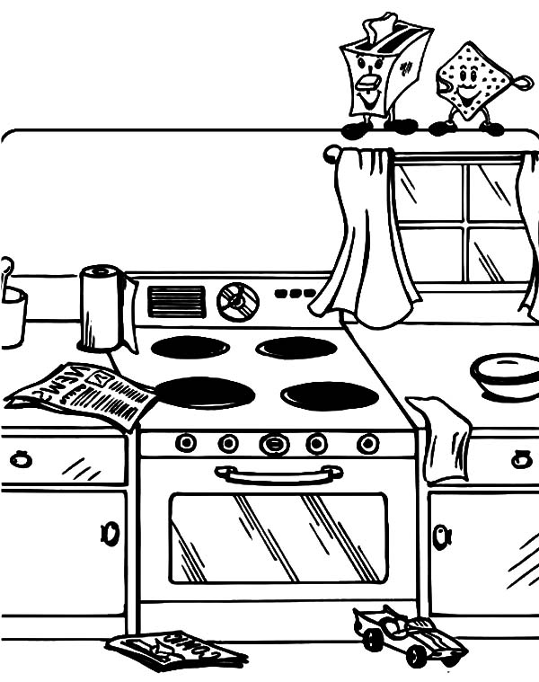 Messy Kitchen Coloring Pages Download Print Online Coloring Pages For Free Color Nimbus Online Coloring Pages Coloring Pages Online Coloring