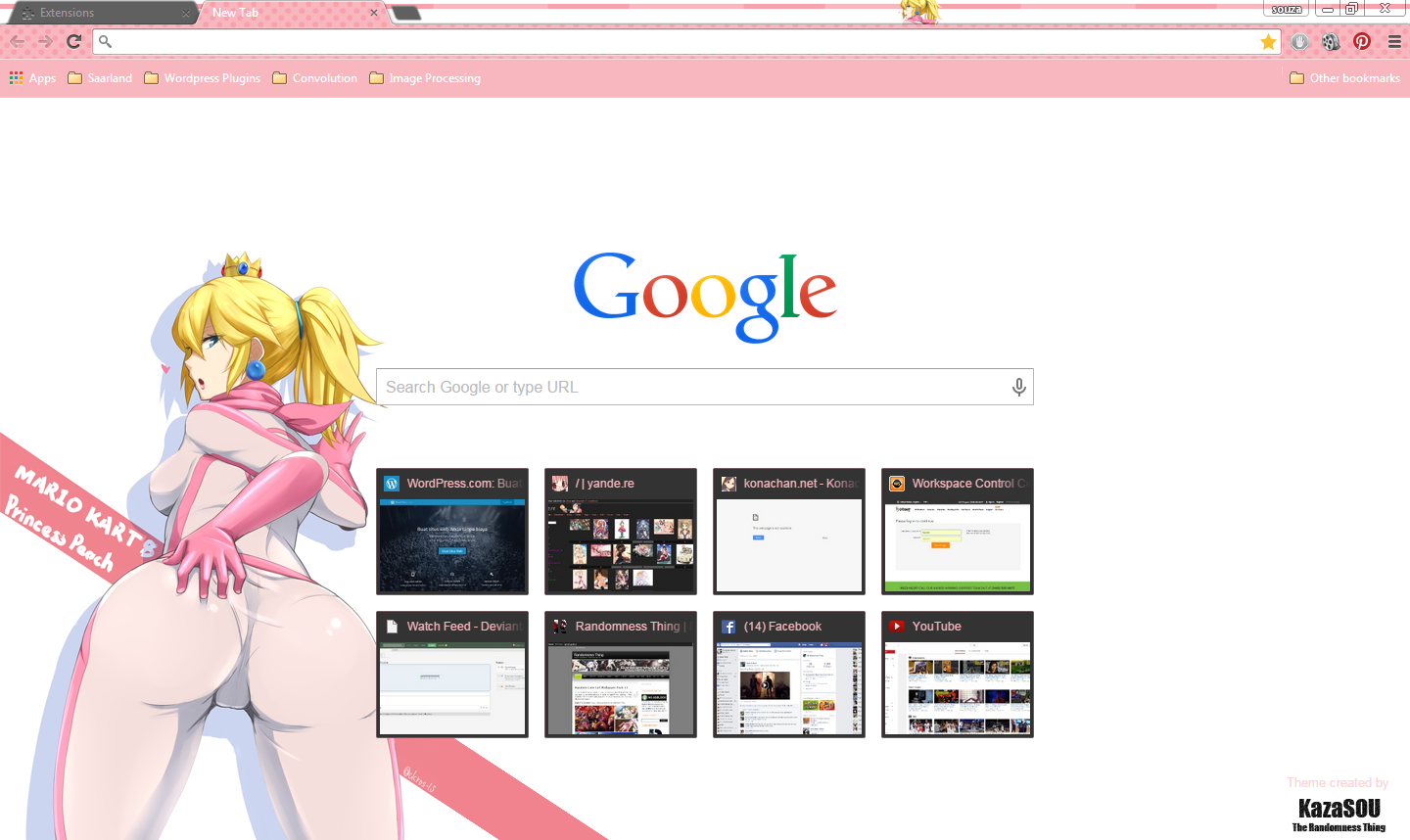 Google themes today - A Little Bit Of An Nsfw Google Chrome Theme Here Today Depicting Princess Peach From The